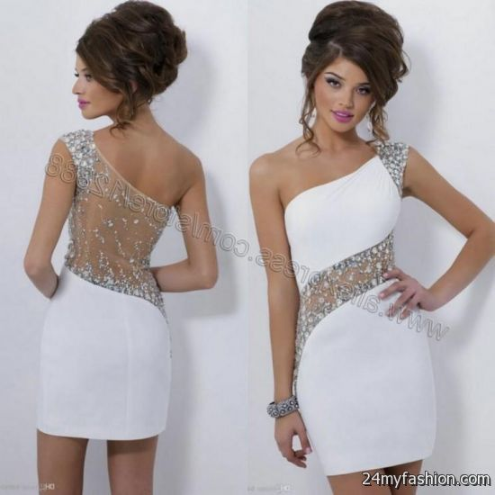 white sparkly cocktail dress