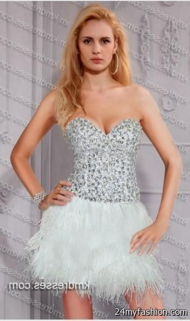 white sparkly cocktail dress 2016-2017 » B2B Fashion
