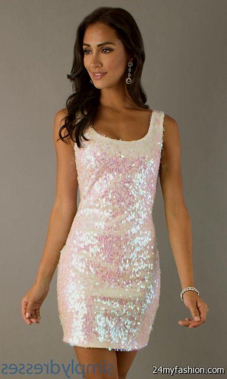 White mini dress sequin