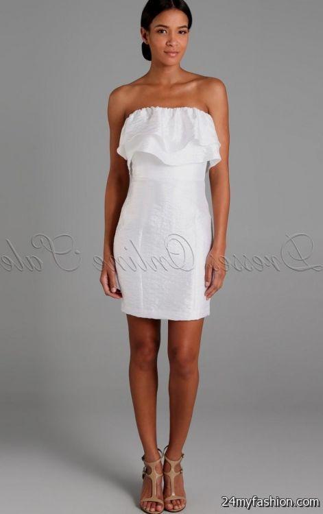 white strapless dress 2016-2017 » B2B Fashion
