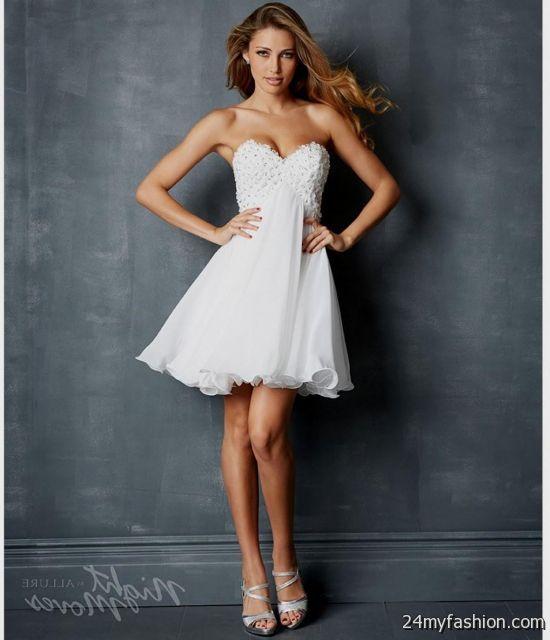 white strapless short prom dresses 2016-2017 » B2B Fashion