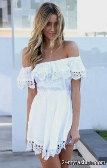 b6bb01caebc4 White Short Summer Dresses - Dress Foto and Picture