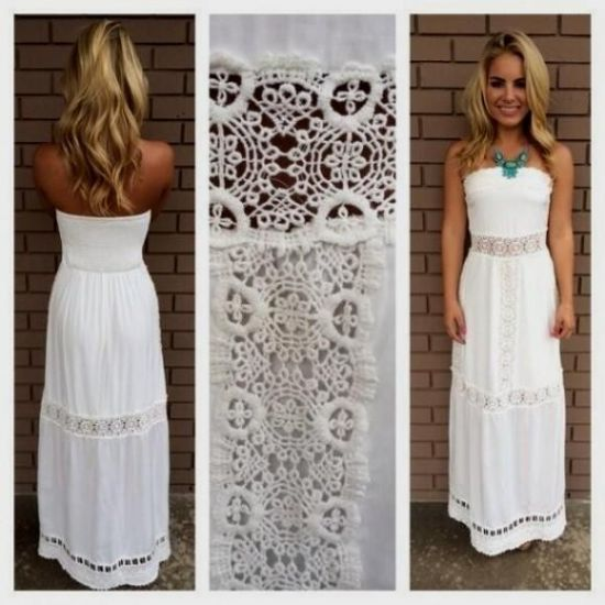 Collection White Summer Maxi Dress Pictures - The Fashions Of Paradise