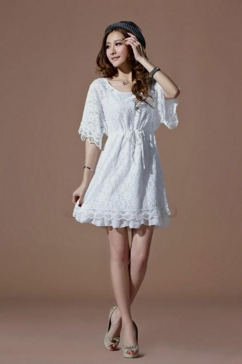 3fcb13d925f You can share these white sundress with sleeves on Facebook