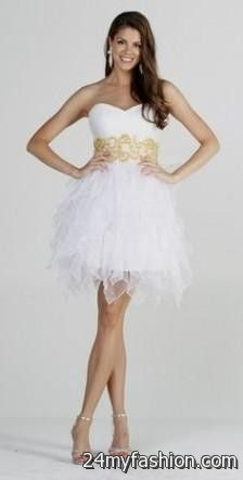 ac8bdf6cd65c Shop the latest short sleeve mini dresses on the world's largest fashion  site. You can share these white winter formal dresses juniors on Facebook  ...