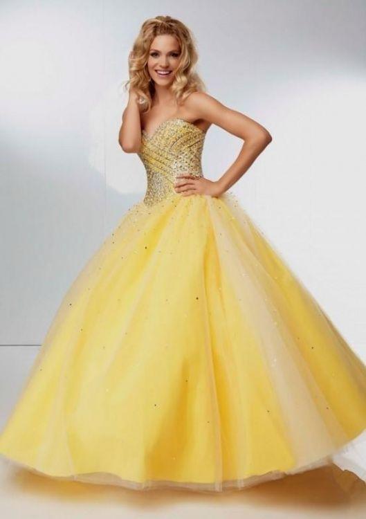 yellow ball gown prom dresses 2016-2017   B2B Fashion
