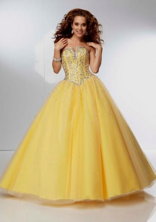 yellow ball gown prom dresses looks b2b fashion