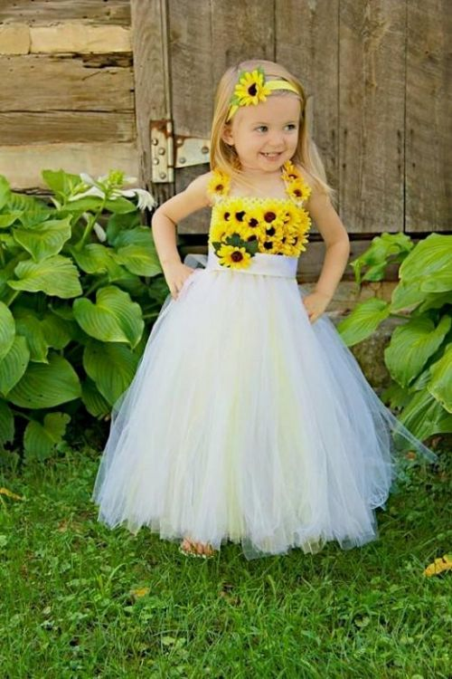 Yellow flower girl dresses sunflower 2016 2017 b2b fashion you can share these yellow flower girl dresses sunflower on facebook stumble upon my space linked in google plus twitter and on all social networking mightylinksfo