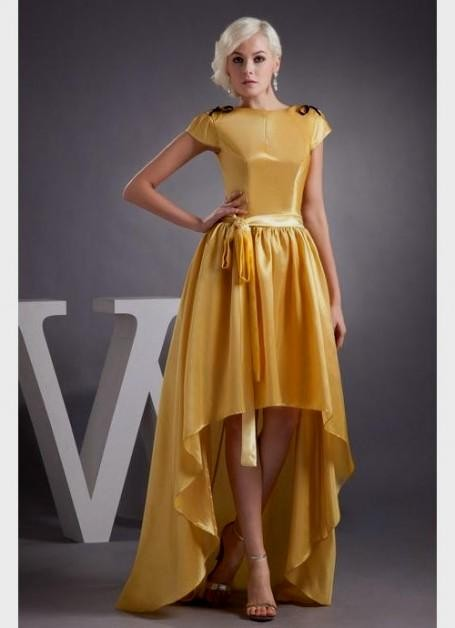 Yellow Prom Dress With Sleeves yellow prom dress with...