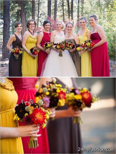 Fall wedding bridesmaid dresses 2017 2018 b2b fashion for Fall wedding dress colors