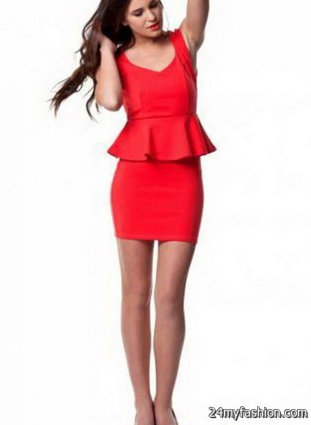 Fitted red dress 2017-2018 » B2B Fashion