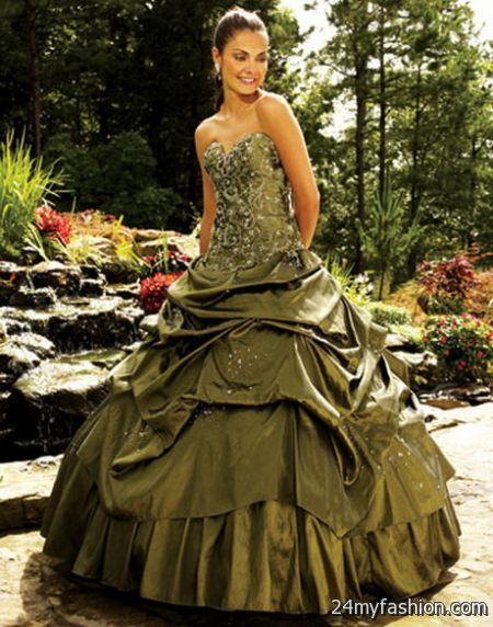 Olive green bridesmaid dresses 2017 2018 b2b fashion for Olive green wedding dresses