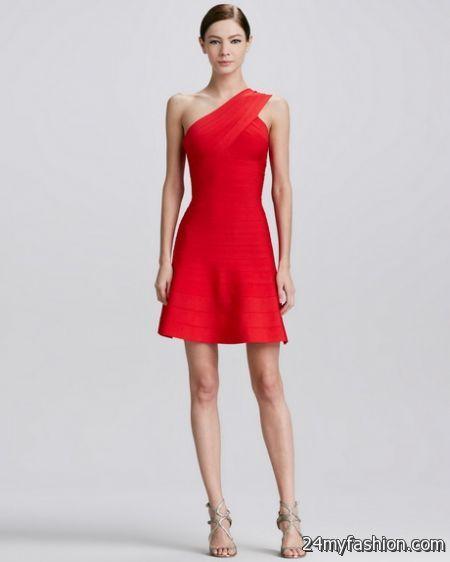One shoulder red dress 2017-2018 » B2B Fashion