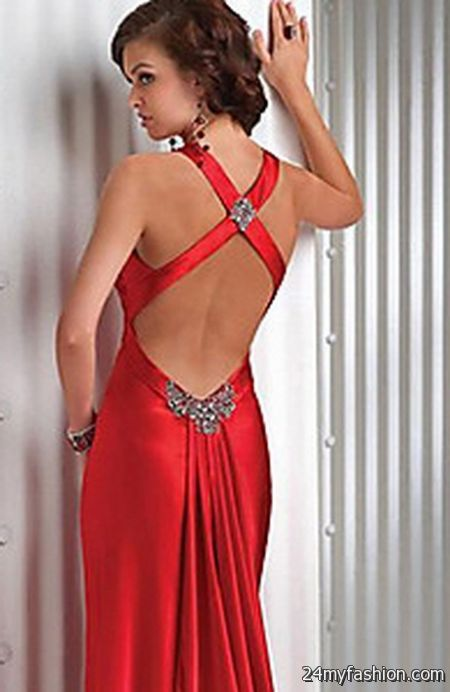 Open Back Prom Hair Fashion Dresses