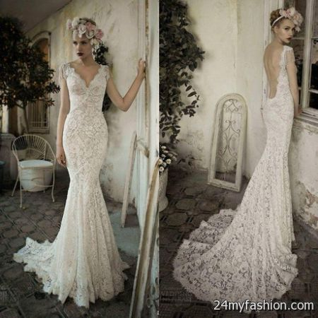 Open back lace wedding dress 2017-2018 | B2B Fashion