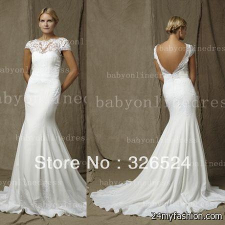 Open back lace wedding dress 2017 2018 b2b fashion for Open back lace wedding dress