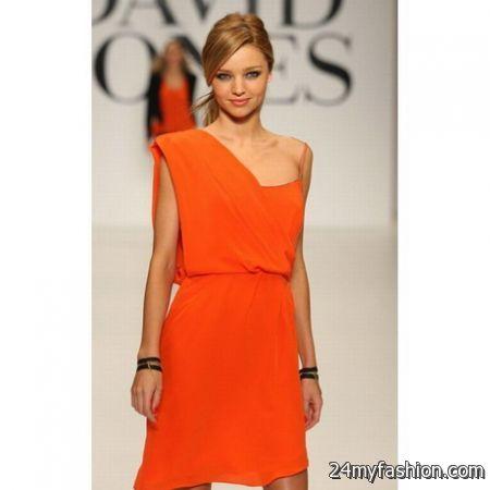 Orange Cocktail Dresses - Ocodea.com