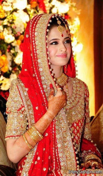 Bridal Makeup Pictures 2018 : Pakistani bridal dress 2017-2018 B2B Fashion