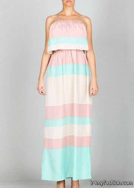 Pastel Maxi Dress 2017-2018 | B2B Fashion