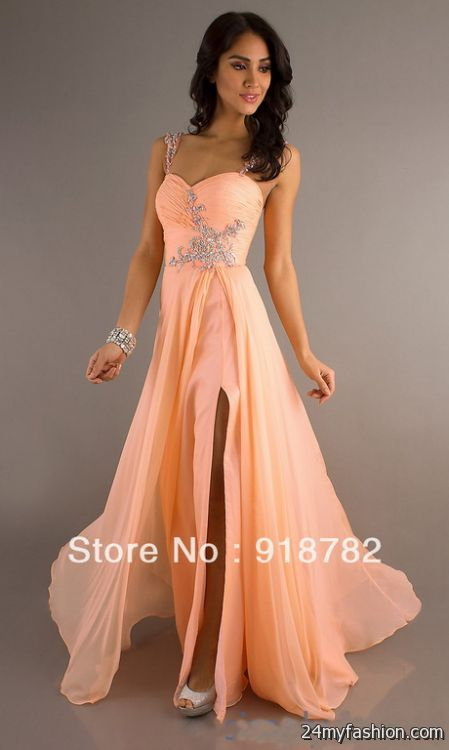 Prom Dresses 2018 Peaches - Formal Dresses
