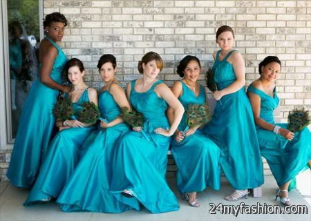 Peacock blue bridesmaid dresses 2017-2018 » B2B Fashion