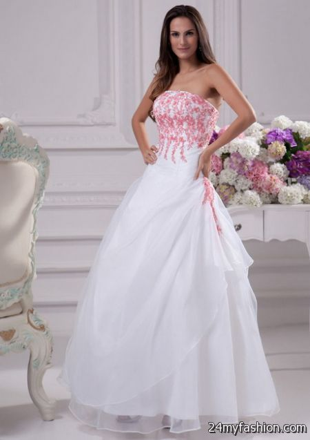 Pink and white wedding dresses 2017-2018 » B2B Fashion
