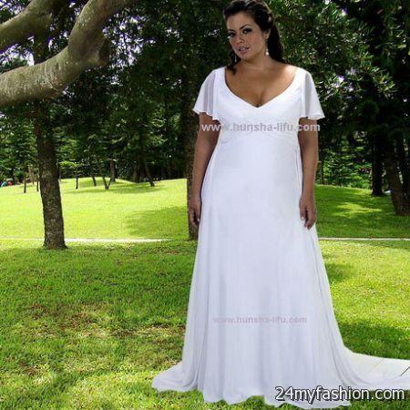 Plus size beach wedding dresses 2017 2018 b2b fashion for Plus size wedding dresses in atlanta