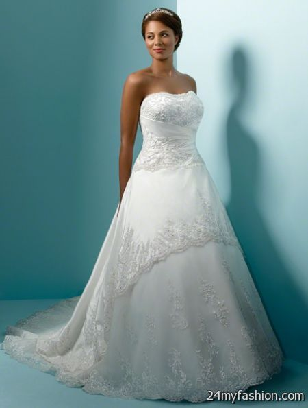 Plus size bridal dresses 2017 2018 b2b fashion for Wedding dress styles for big hips