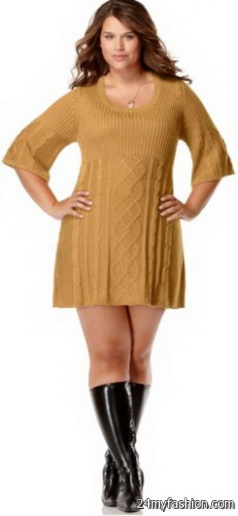 0a3c1be1a3d Plus size sweater dresses 2017-2018