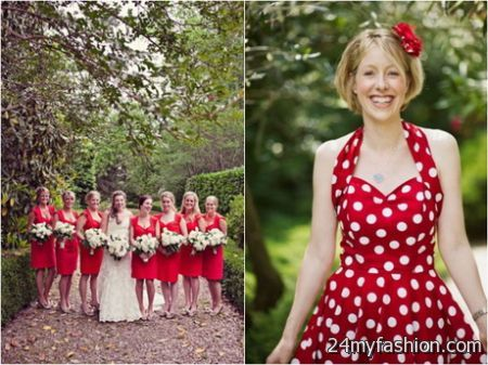 You Can Share The Most Trusted Polka Dot Bridesmaid Dresses On Facebook Pinterest My E Linked In Google Plus Twitter And All Social Networking