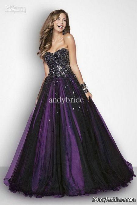 Purple and black dress 2017-2018 » B2B Fashion