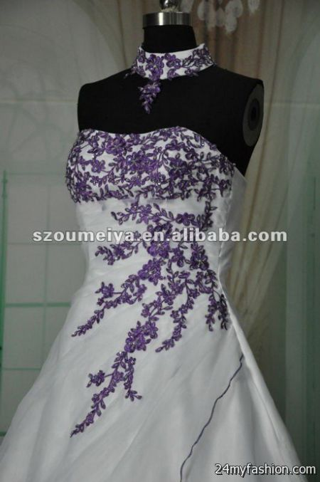 Purple and white wedding dresses 2017 2018 b2b fashion you can share the most trusted purple and white wedding dresses on facebook pinterest my space linked in google plus twitter and on all social junglespirit Image collections