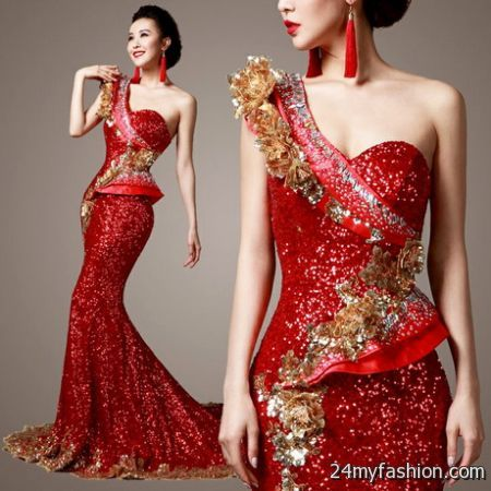red and gold dress 20172018 b2b fashion