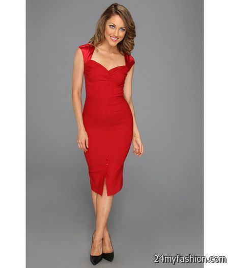 Red fitted dress 2017-2018 » B2B Fashion