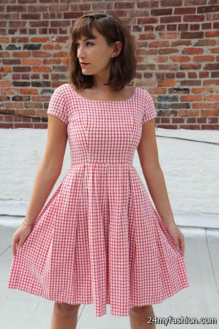 Red gingham dress 2017-2018 » B2B Fashion