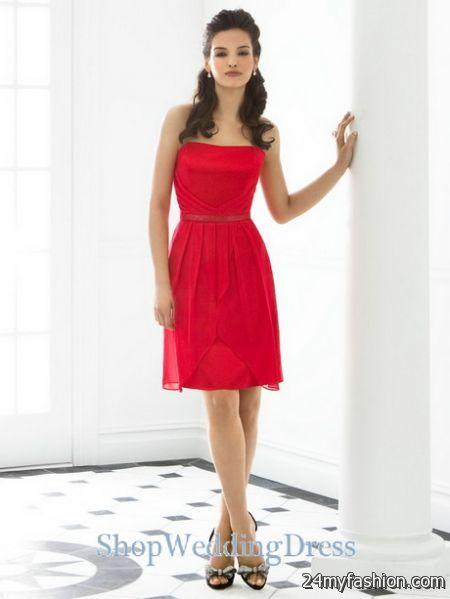 Red knee length dress 2017-2018 » B2B Fashion