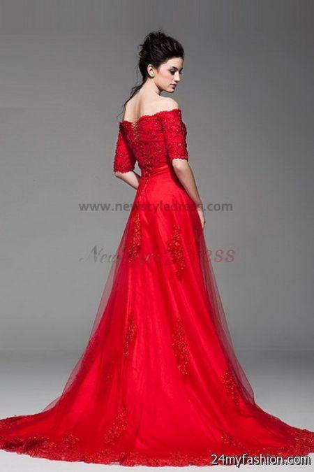 Red lace wedding dress 2017-2018 | B2B Fashion