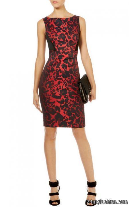 Red leopard print dress 2017-2018   B2B Fashion