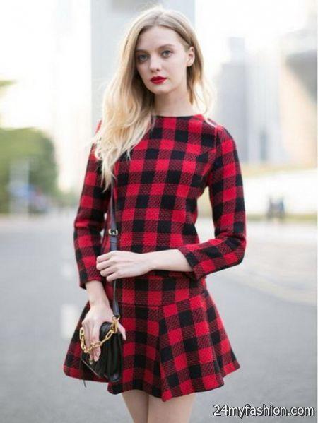 Red plaid dress 2017-2018 » B2B Fashion