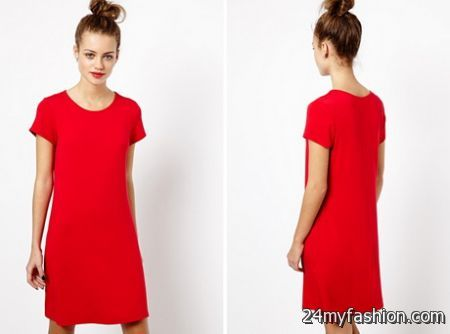 52b35b130896 Red Tee Shirt Dress - Dress Foto and Picture