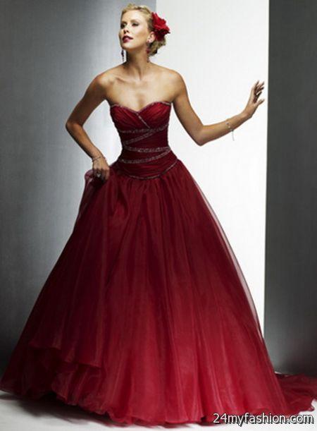 2018 Red Wedding Dress