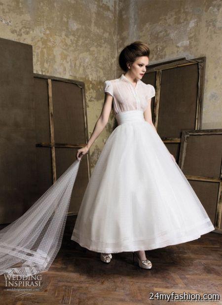 Retro wedding dresses 2017 2018 b2b fashion for Retro tea length wedding dresses