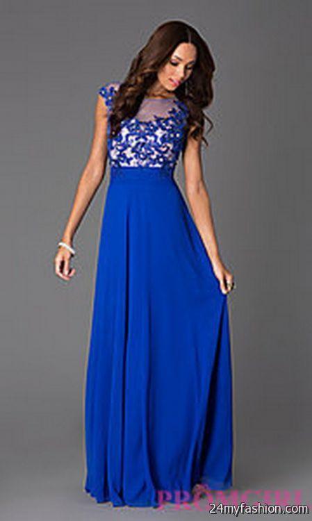 Blue prom cocktail dresses 2018