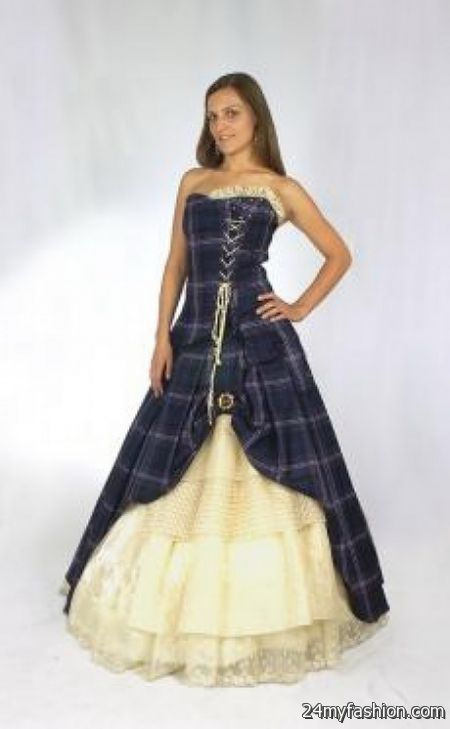 scottish wedding dresses 2017 2018 b2b fashion With scottish tartan wedding dress
