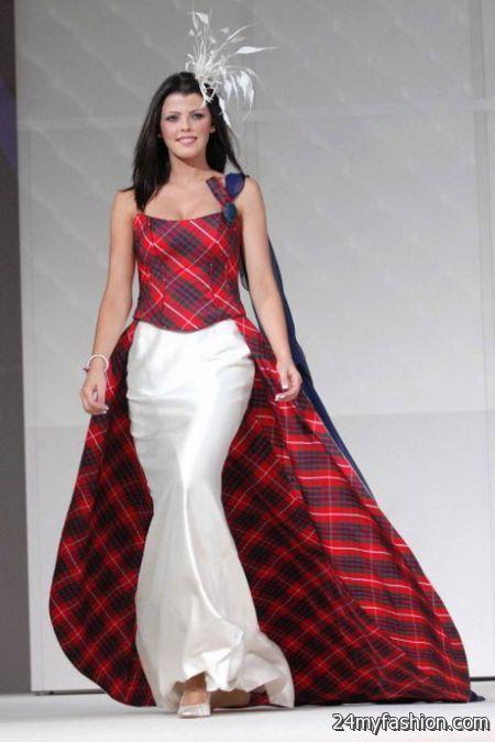 Scottish wedding dresses 2017 2018 b2b fashion for Scottish wedding dresses with tartan