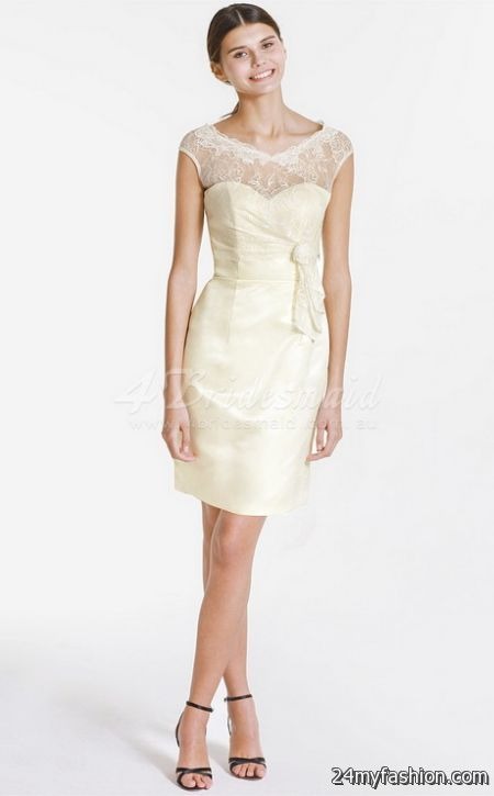 Short ivory lace cocktail dress – Dress blog Edin