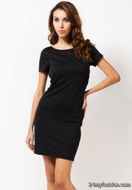 Short sleeve black dress 2017-2018 » B2B Fashion