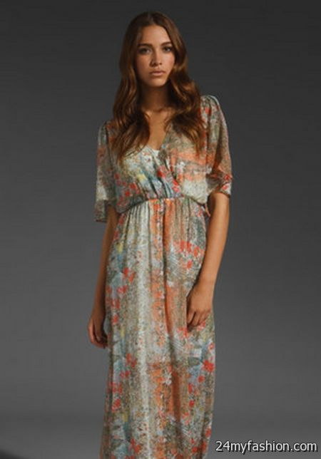 Collection Short Sleeved Maxi Dress Pictures - Reikian
