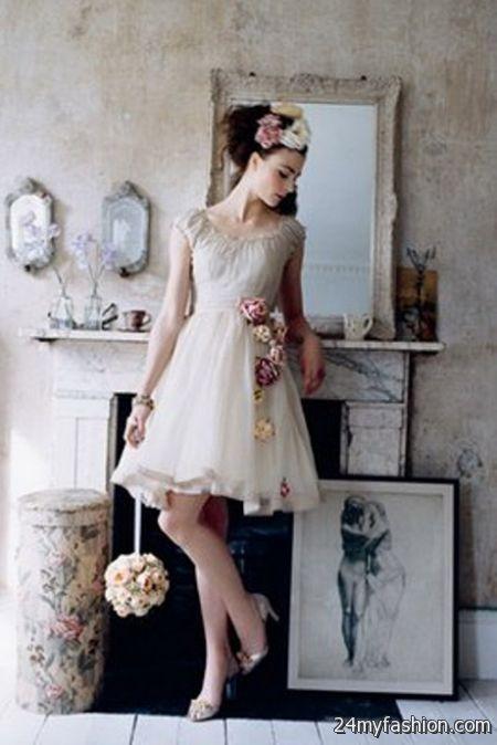 Short vintage wedding dresses 2017-2018 » B2B Fashion