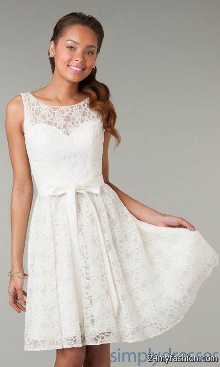 Short white lace dress 2017-2018 » B2B Fashion